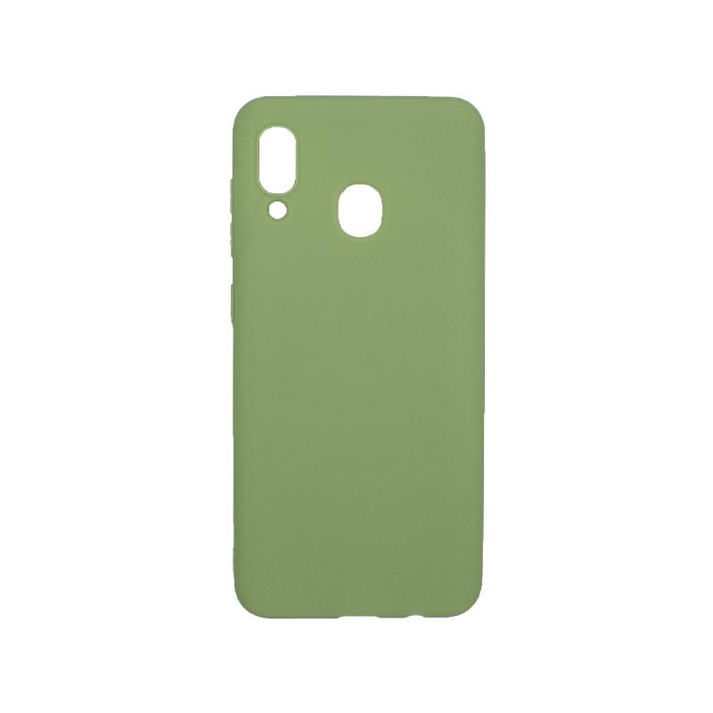 Θήκη Samsung Galaxy A20 / Α30 Σιλικόνη πράσινο
