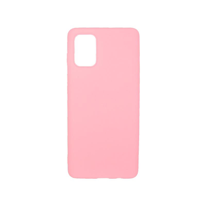 Θήκη samsung Α51 σιλικόνη απλή ροζ