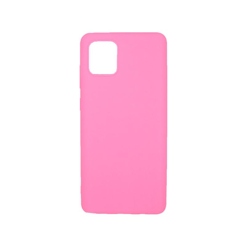 Θήκη Samsung A81 / Note 10 Lite Σιλικόνη ροζ