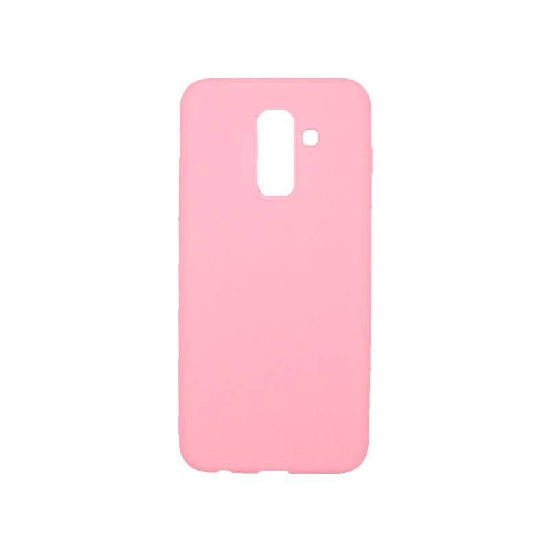 Θήκη Samsung Galaxy A6 Plus / J8 2018 Σιλικόνη απαλό ροζ