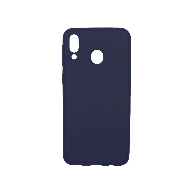 Θήκη Samsung Galaxy Μ20 Σιλικόνη μπλε