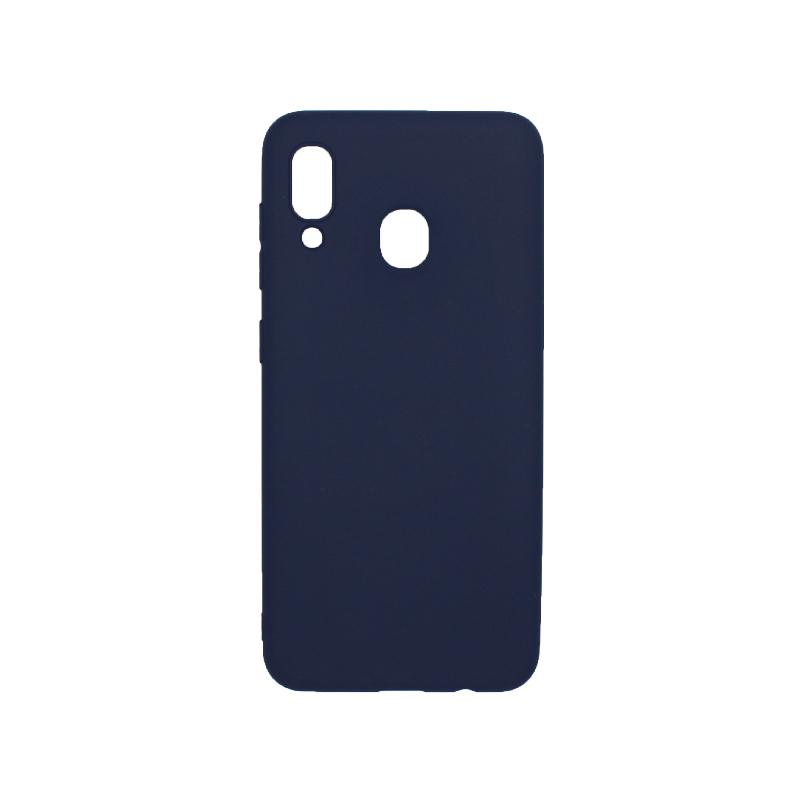 Θήκη Samsung Galaxy A20 / Α30 Σιλικόνη σκούρο μπλε