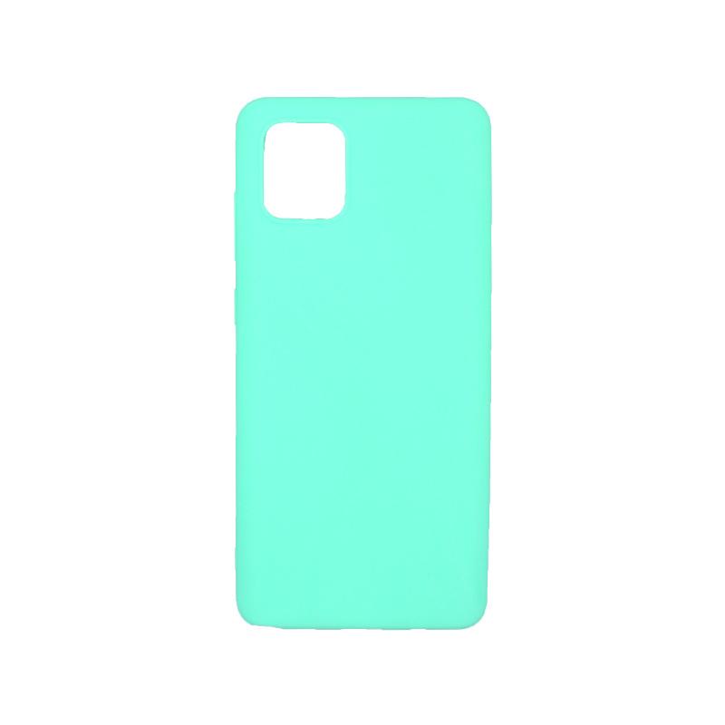 Θήκη Samsung A81 / Note 10 Lite Σιλικόνη τιρκουάζ
