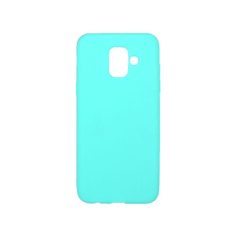 Θήκη Samsung Galaxy Α6 Σιλικόνη τιρκουάζ