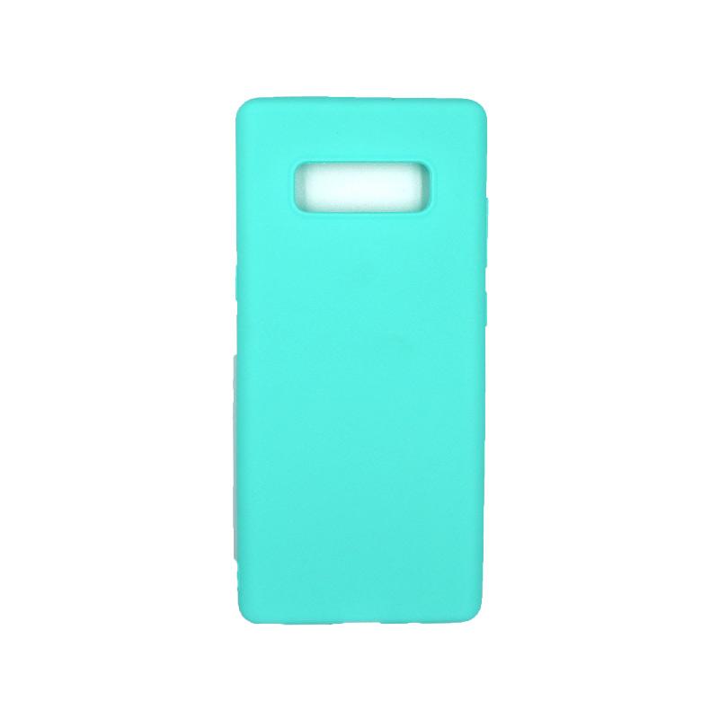 Θήκη Samsung Galaxy Note 8 σιλικόνη τιρκουάζ