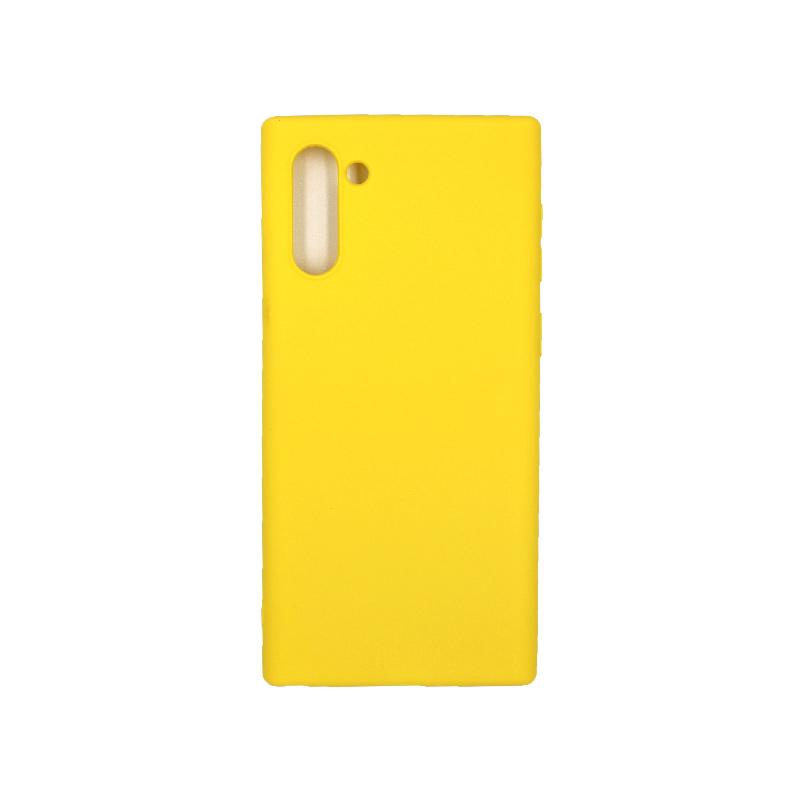 Θήκη Samsung Galaxy Note 10 Σιλικόνη κίτρινο