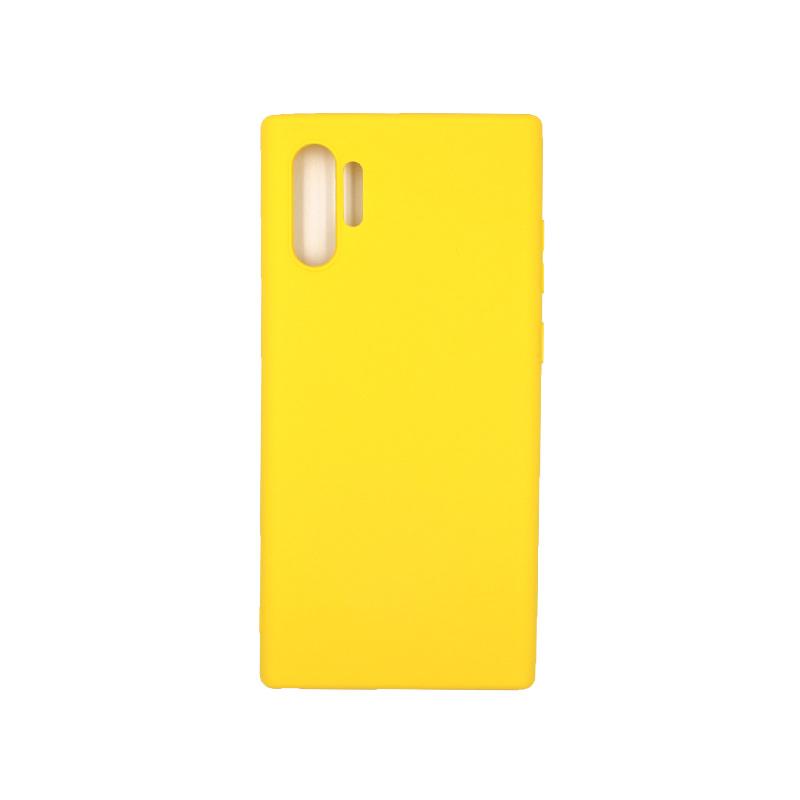 Θήκη Samsung Galaxy Note 10 Plus Σιλικόνη κίτρινο