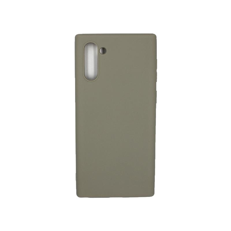Θήκη Samsung Galaxy Note 10 Σιλικόνη λαδί
