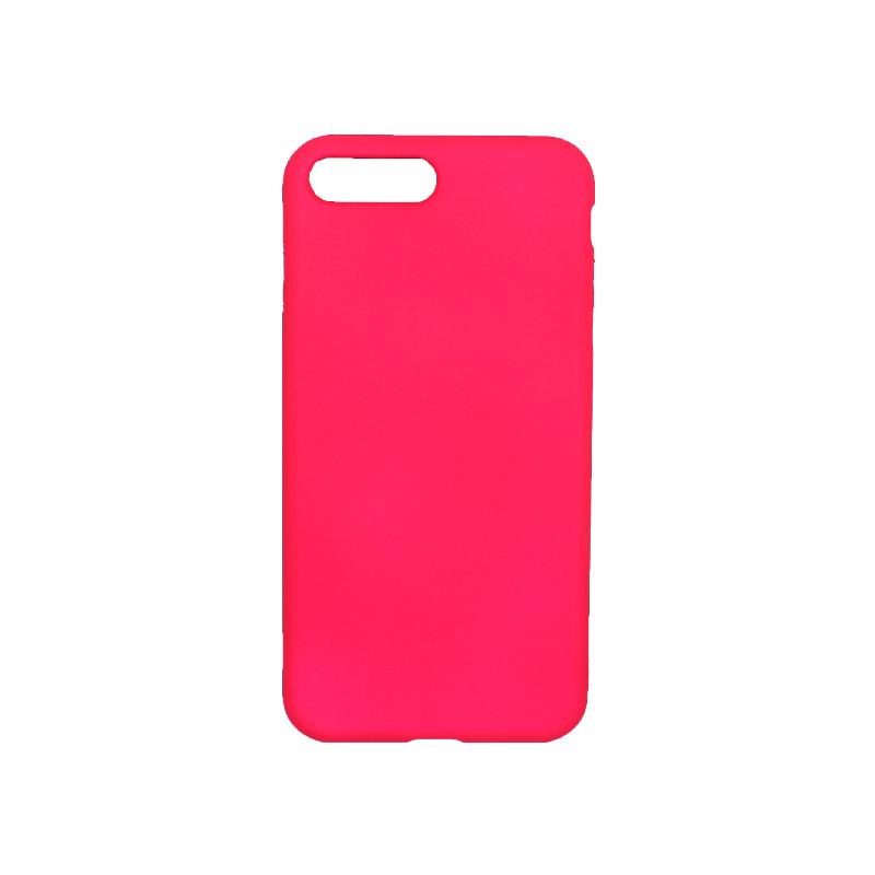 θήκη iphone 7 Plus / 8 Plus σιλικόνη φούξια 1