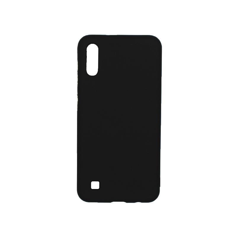 Θήκη Samsung Galaxy A10 / M10 Σιλικόνη με Ασημένιες Λεπτομέρειες μαύρο 1