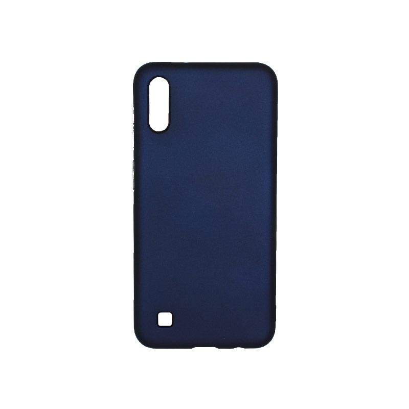 Θήκη Samsung Galaxy A10 / M10 Σιλικόνη με Ασημένιες Λεπτομέρειες μπλε 1