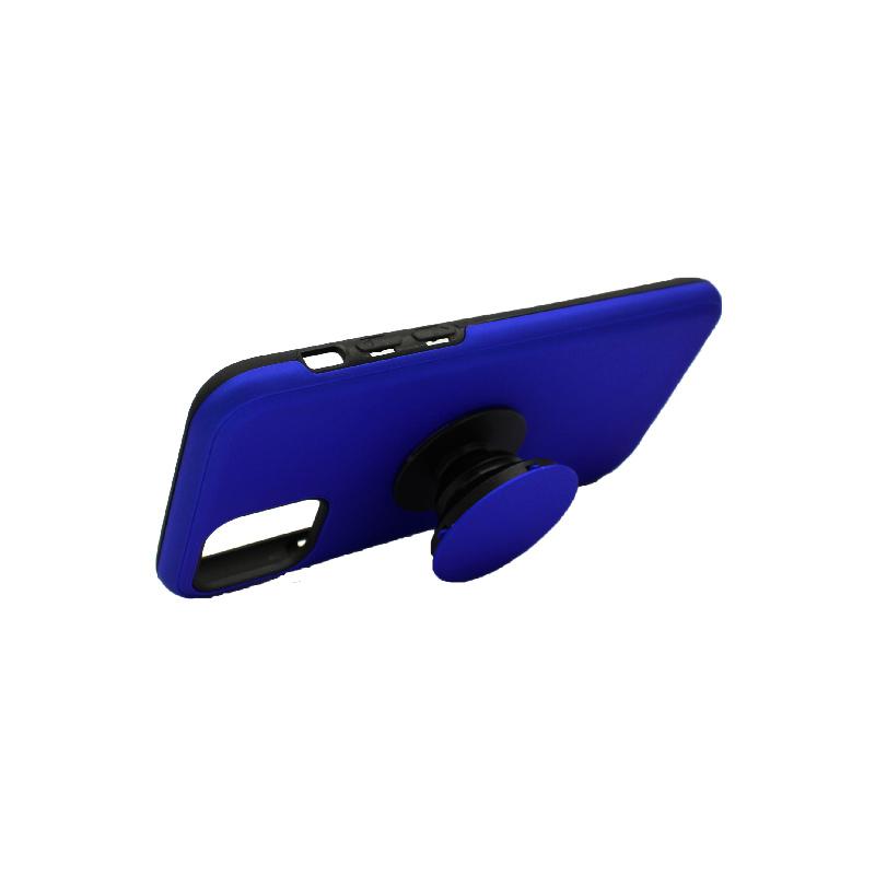θήκη iphone 11 / 11 pro σιλικόνη popsocket μπλε 2