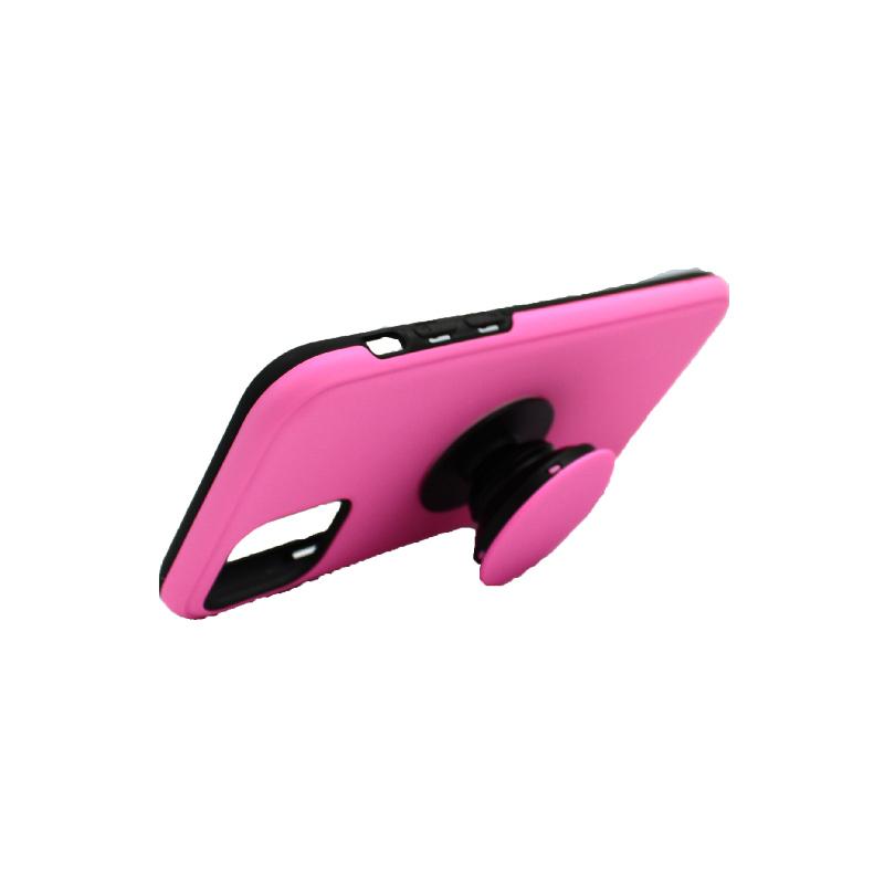 θήκη iphone 11 / 11 pro σιλικόνη popsocket ροζ 2