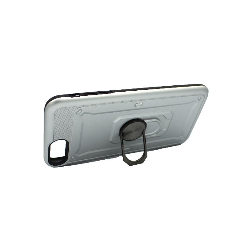 θήκη iphone 7 Plus / 8 Plus σιλικόνη popsocket ασημί 3