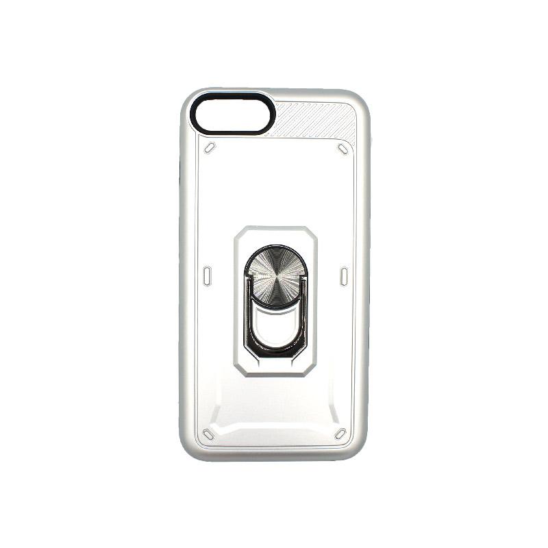 θήκη iphone 7 / 8 σιλικόνη popsocket ασημί 1