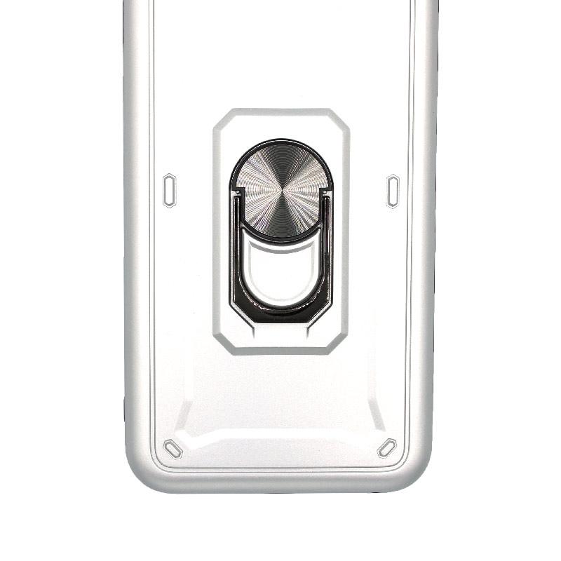 θήκη iphone 7 Plus / 8 Plus σιλικόνη popsocket ασημί 2