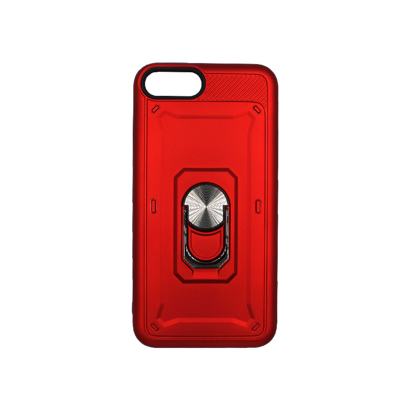 θήκη iphone 7 Plus / 8 Plus σιλικόνη popsocket κόκκινο 1