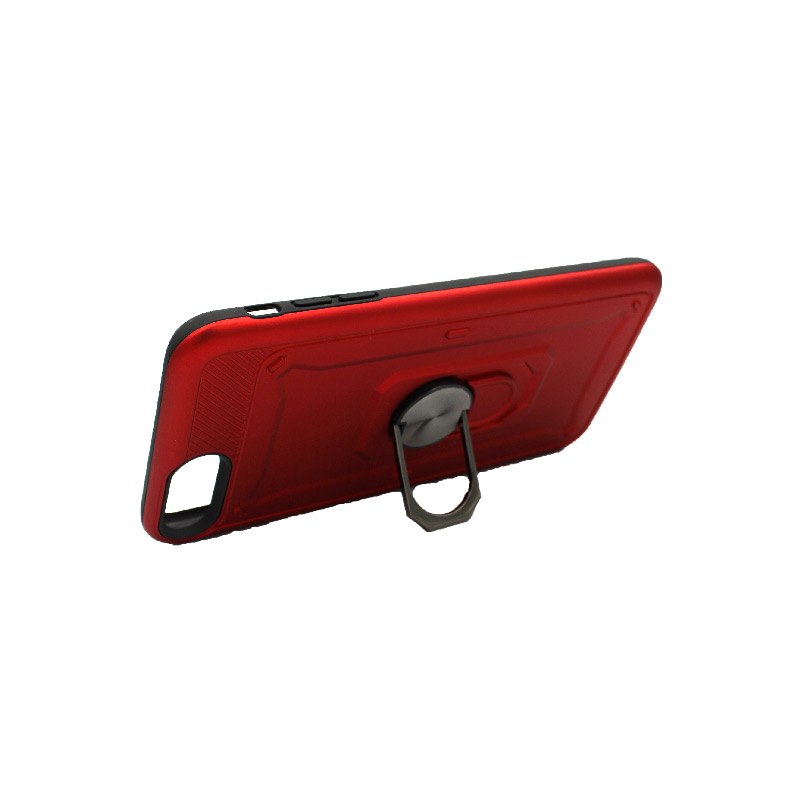 θήκη iphone 7 Plus / 8 Plus σιλικόνη popsocket κόκκινο 2