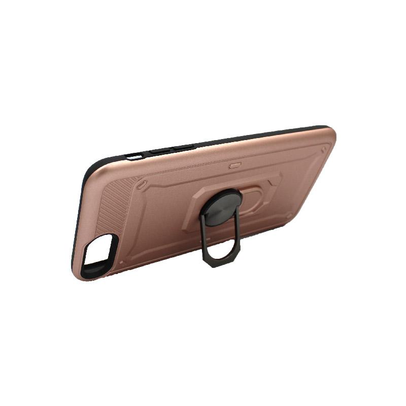 θήκη iphone 7 Plus / 8 Plus σιλικόνη popsocket rose gold 2