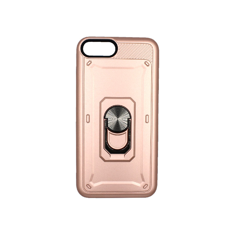 θήκη iphone 7 Plus / 8 Plus σιλικόνη popsocket rose gold 1