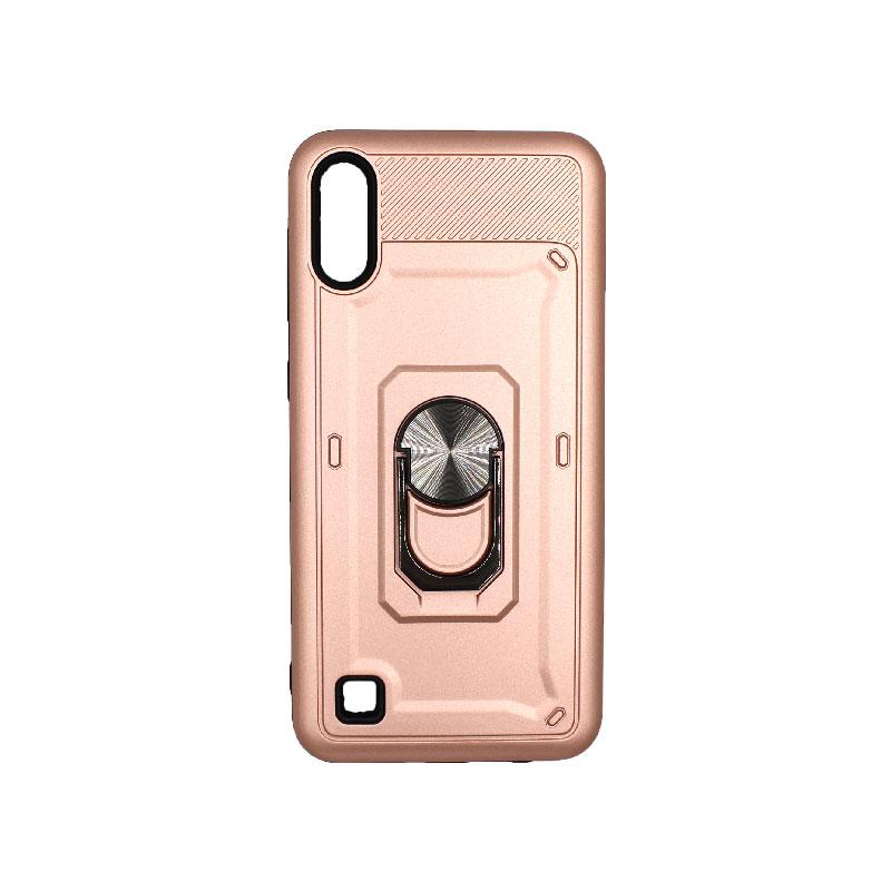 Θήκη Samsung Galaxy A10 / M10 με Popsocket ροζ χρυσό 1