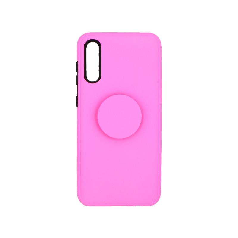 Θήκη Samsung A50 / A30S / A50S με Popsocket ροζ 1