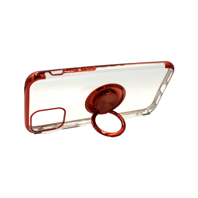 θήκη iphone 11 / 11 pro διάφανη σιλικόνη popsocket κόκκινο 3