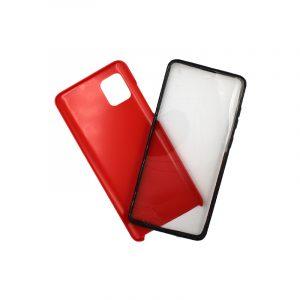 Θήκη Samsung A81 / Note 10 Lite Full Body με Screen Protector κόκκινο 1