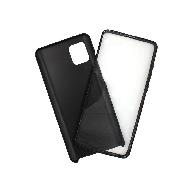 Θήκη Samsung A81 / Note 10 Lite Full Body με Screen Protector μαύρο 1