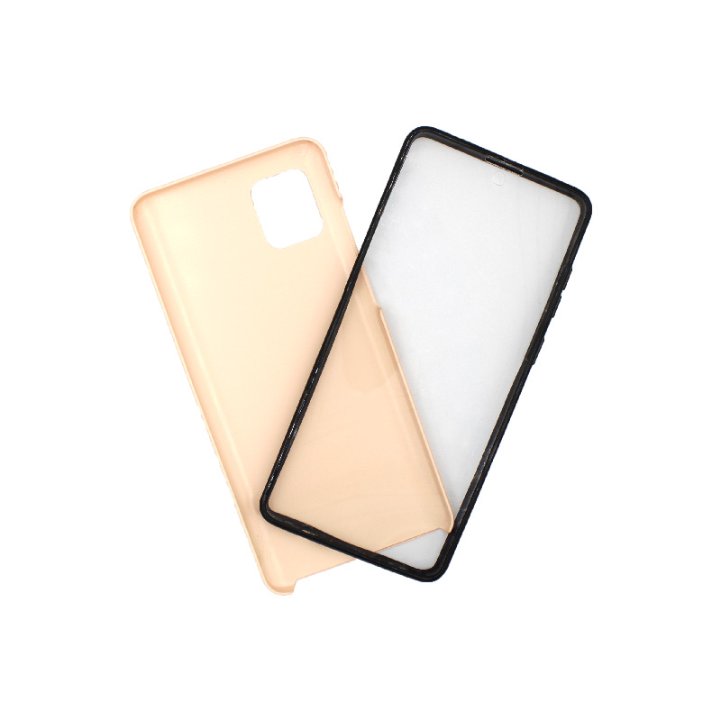 Θήκη Samsung A81 / Note 10 Lite Full Body με Screen Protector μπεζ 1