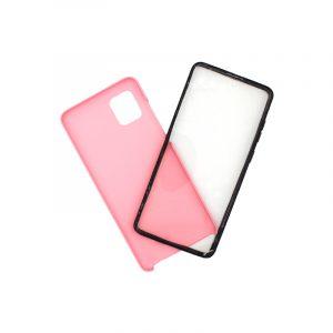 Θήκη Samsung A81 / Note 10 Lite Full Body με Screen Protector ροζ 1
