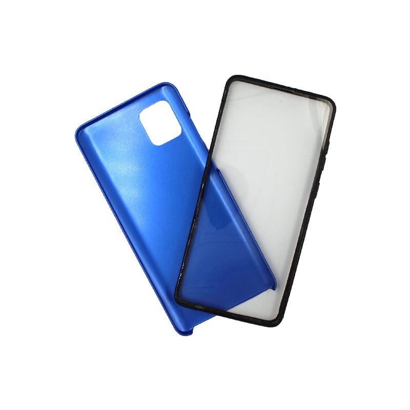 Θήκη Samsung A81 / Note 10 Lite Full Body με Screen Protector μπλε 1