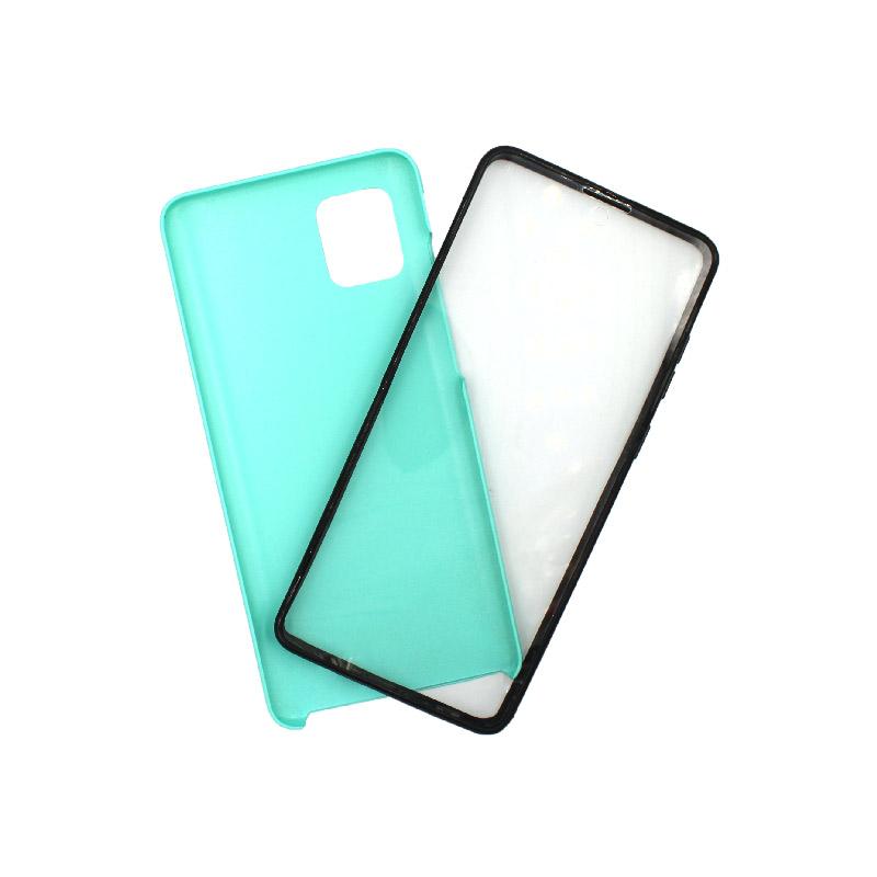 Θήκη Samsung A81 / Note 10 Lite Full Body με Screen Protector τιρκουάζ 1