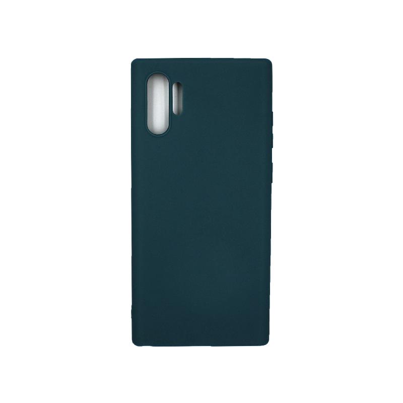 Θήκη Samsung Galaxy Note 10 Plus Σιλικόνη πετρόλ