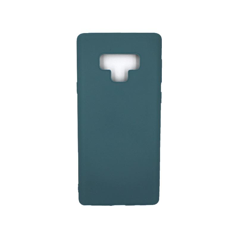 Θήκη Samsung Galaxy Note 9 σιλικόνη πετρόλ