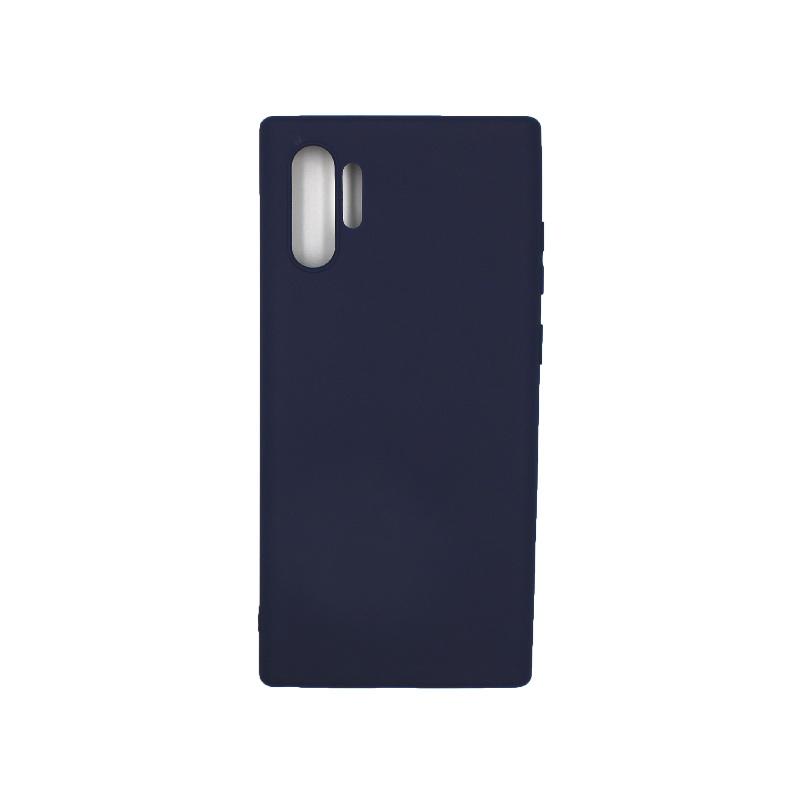 Θήκη Samsung Galaxy Note 10 Plus Σιλικόνη μπλε
