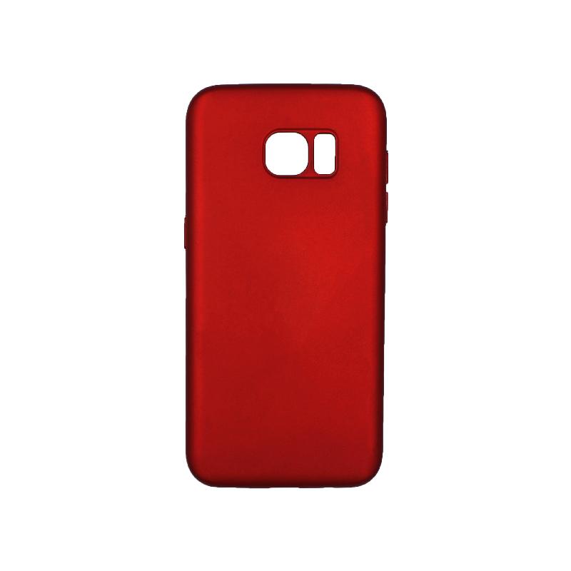 Θήκη Samsung Galaxy S7 Edge Silky and Soft Touch Silicone μπορντό 1