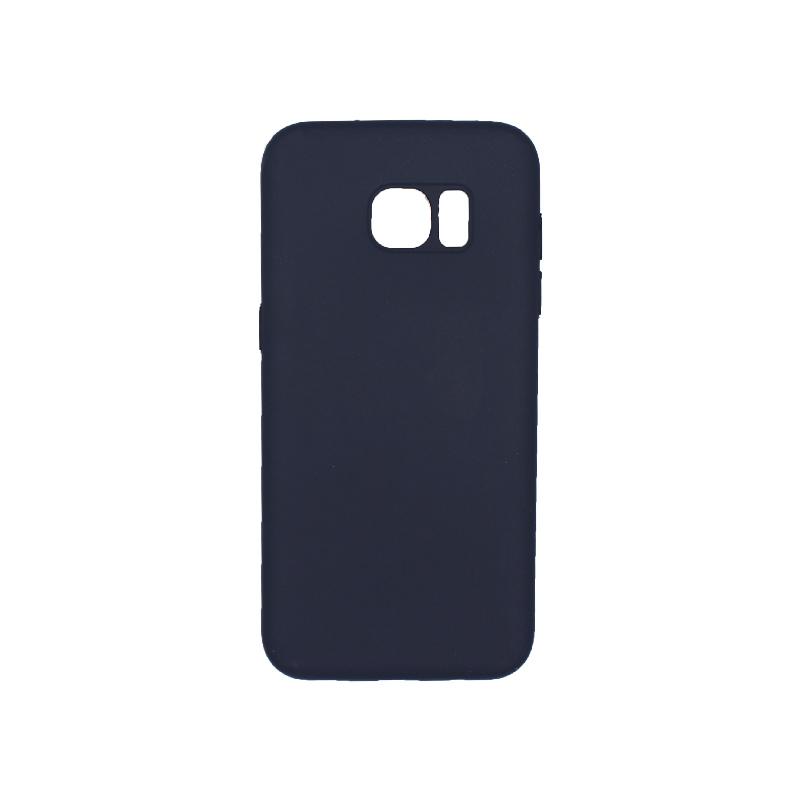 Θήκη Samsung Galaxy S7 Edge Silky and Soft Touch Silicone σκούρο μπλε 1