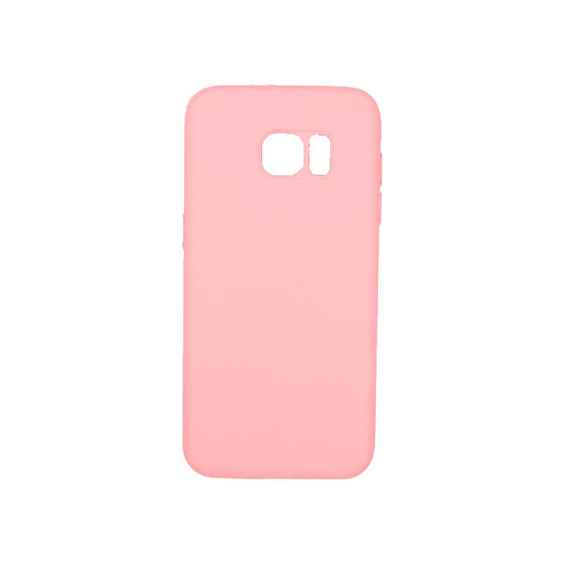 Θήκη Samsung Galaxy S7 Edge Silky and Soft Touch Silicone ροζ 1