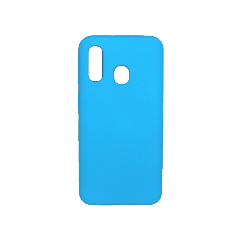 Θήκη Samsung Galaxy A40 Silky and Soft Touch Silicone γαλάζιο 1