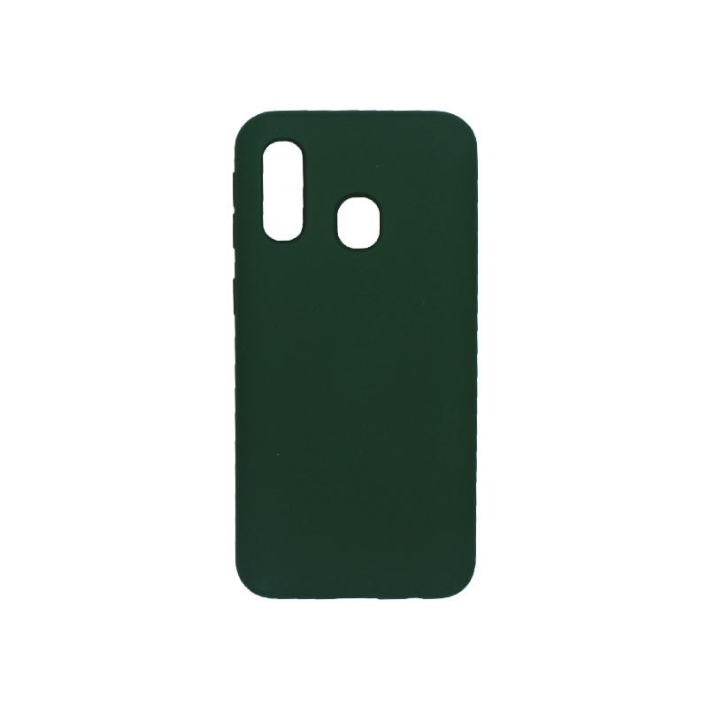 Θήκη Samsung Galaxy A40 Silky and Soft Touch Silicone πράσινο 1