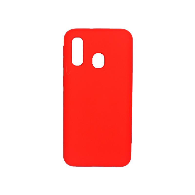 Θήκη Samsung Galaxy A40 Silky and Soft Touch Silicone κόκκινο 1