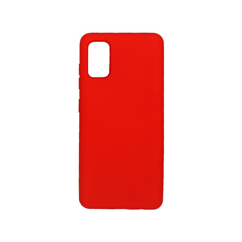 Θήκη Samsung A41 Silky and Soft Touch Silicone κόκκινο 1