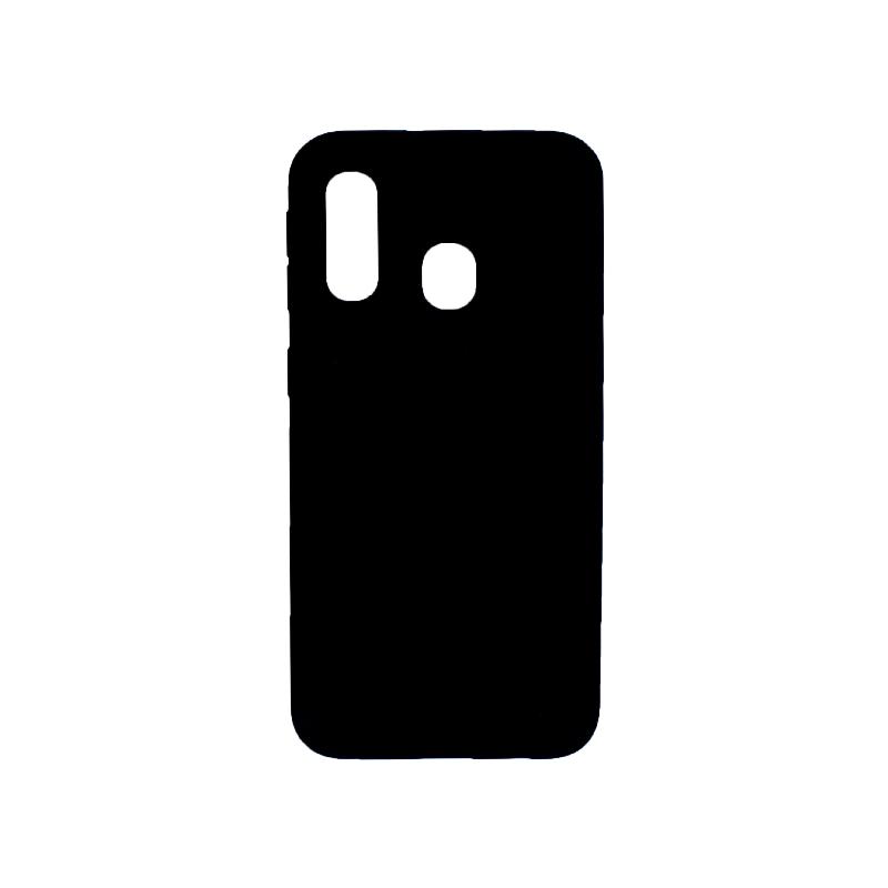 Θήκη Samsung Galaxy A40 Silky and Soft Touch Silicone μαύρο 1