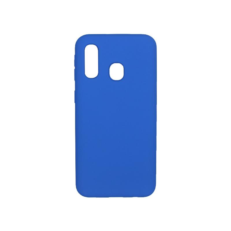 Θήκη Samsung Galaxy A40 Silky and Soft Touch Silicone μπλε 1