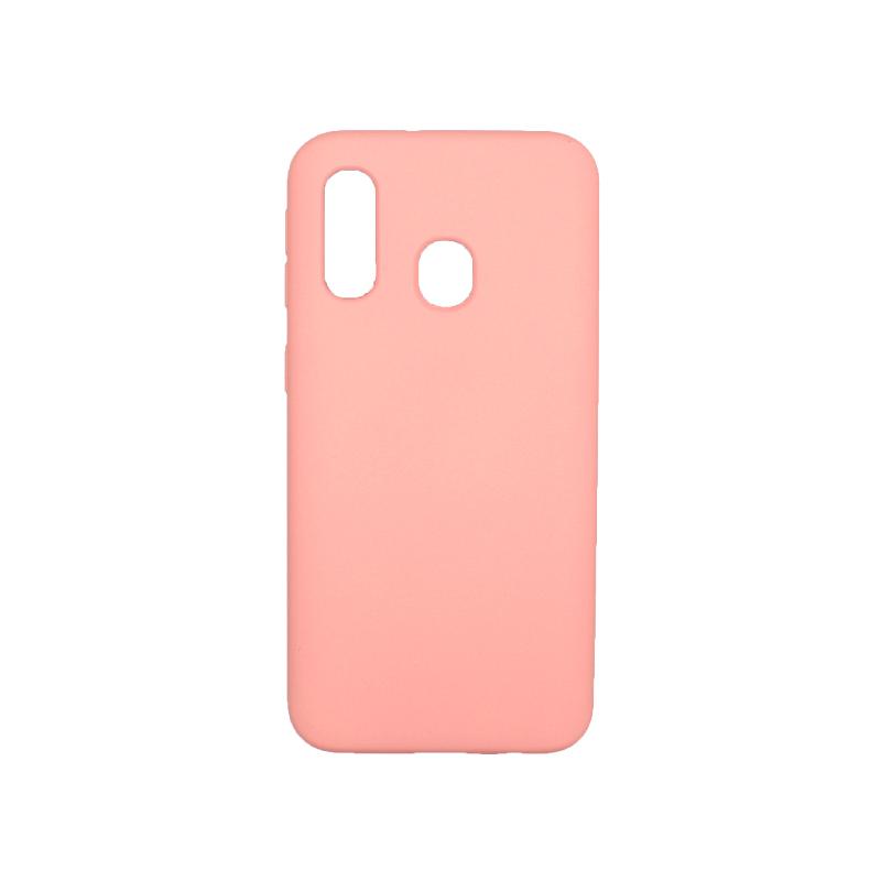 Θήκη Samsung Galaxy A40 Silky and Soft Touch Silicone ροζ 1
