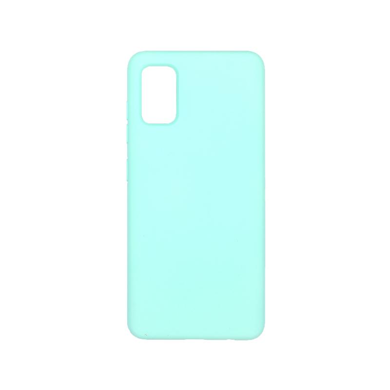 Θήκη Samsung A41 Silky and Soft Touch Silicone τιρκουάζ 1