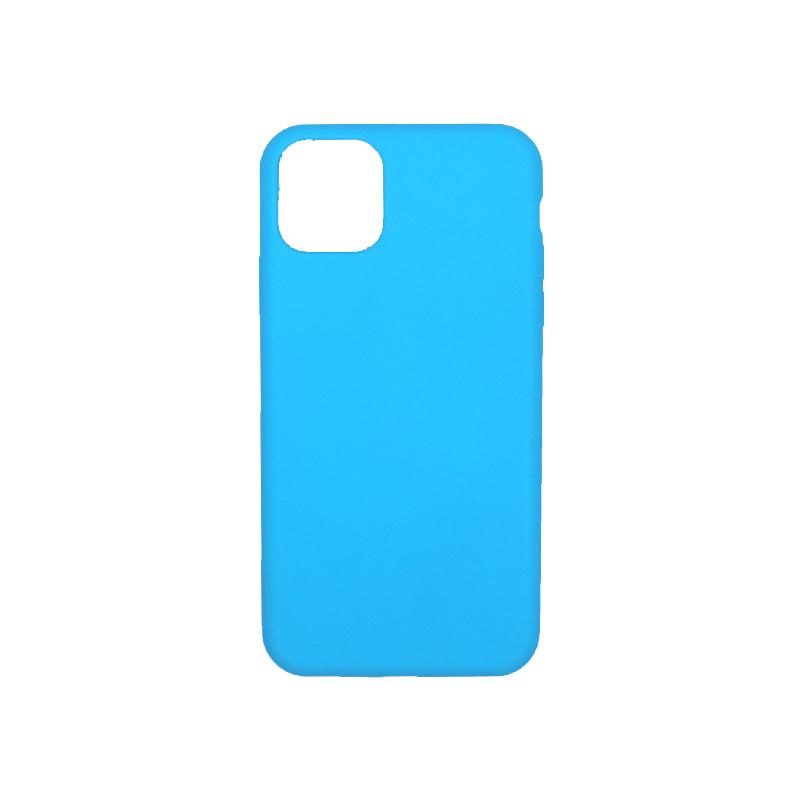 θήκη iPhone 11 pro max silky and soft touch σιλικόνη γαλάζιο πίσω