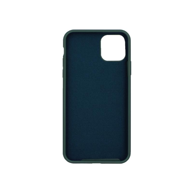 θήκη iPhone 11 pro max silky and soft touch σιλικόνη πράσινο μπροστά