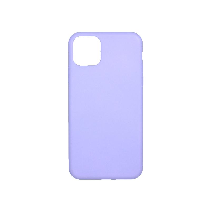 θήκη iPhone 11 pro max silky and soft touch σιλικόνη μοβ πίσω